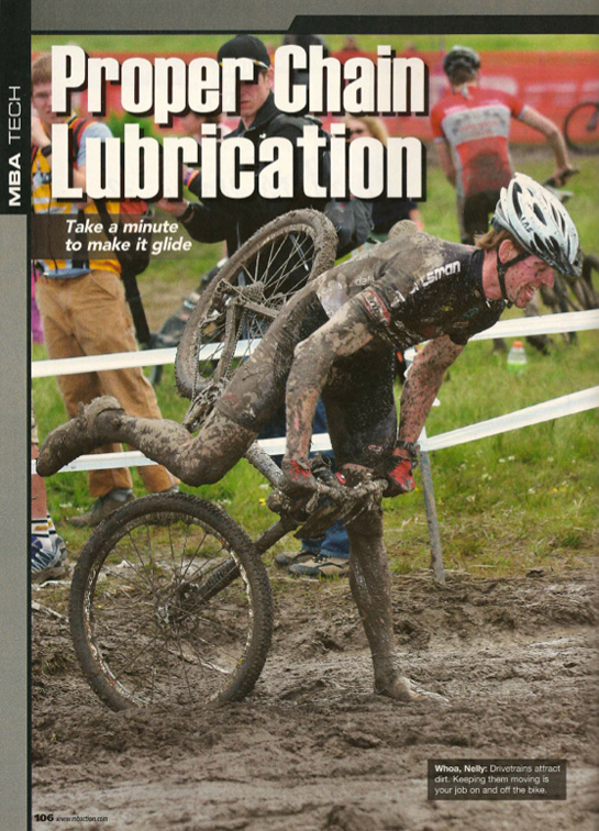 Squirt Lube in Mountainbike Action